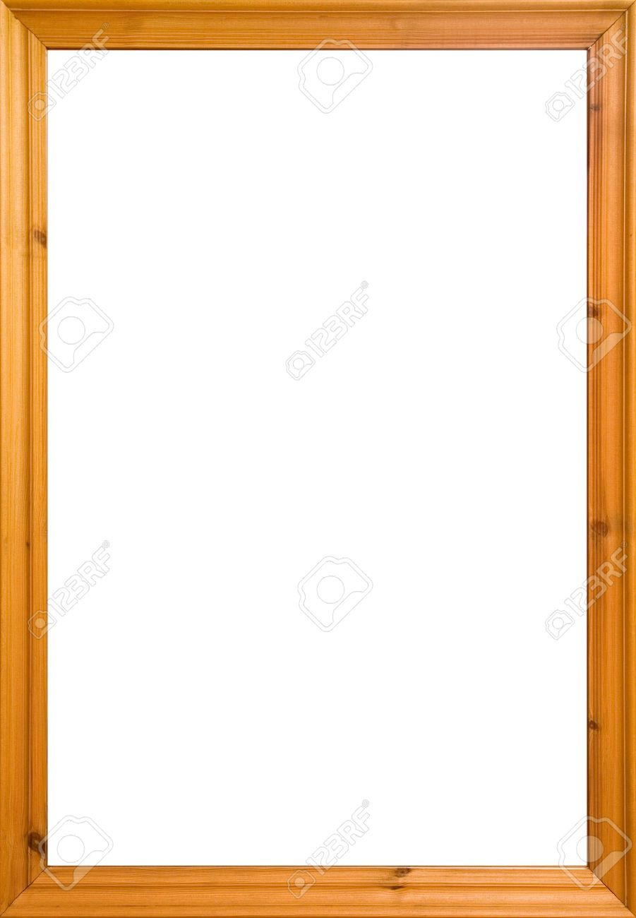 Wooden Frame With White Isolated Area. Could Also Be Used As.. Stock ...