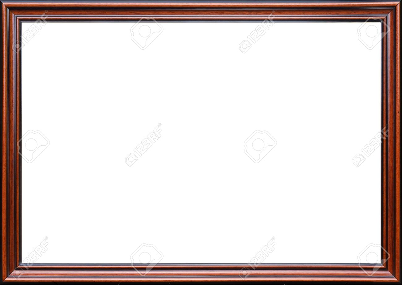 stock photo wooden picture frame ideal for a border design