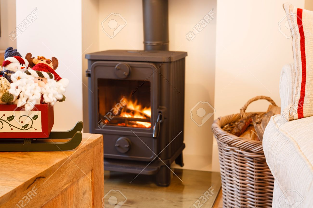 Modern Living Room Modern Wood Burning Stove