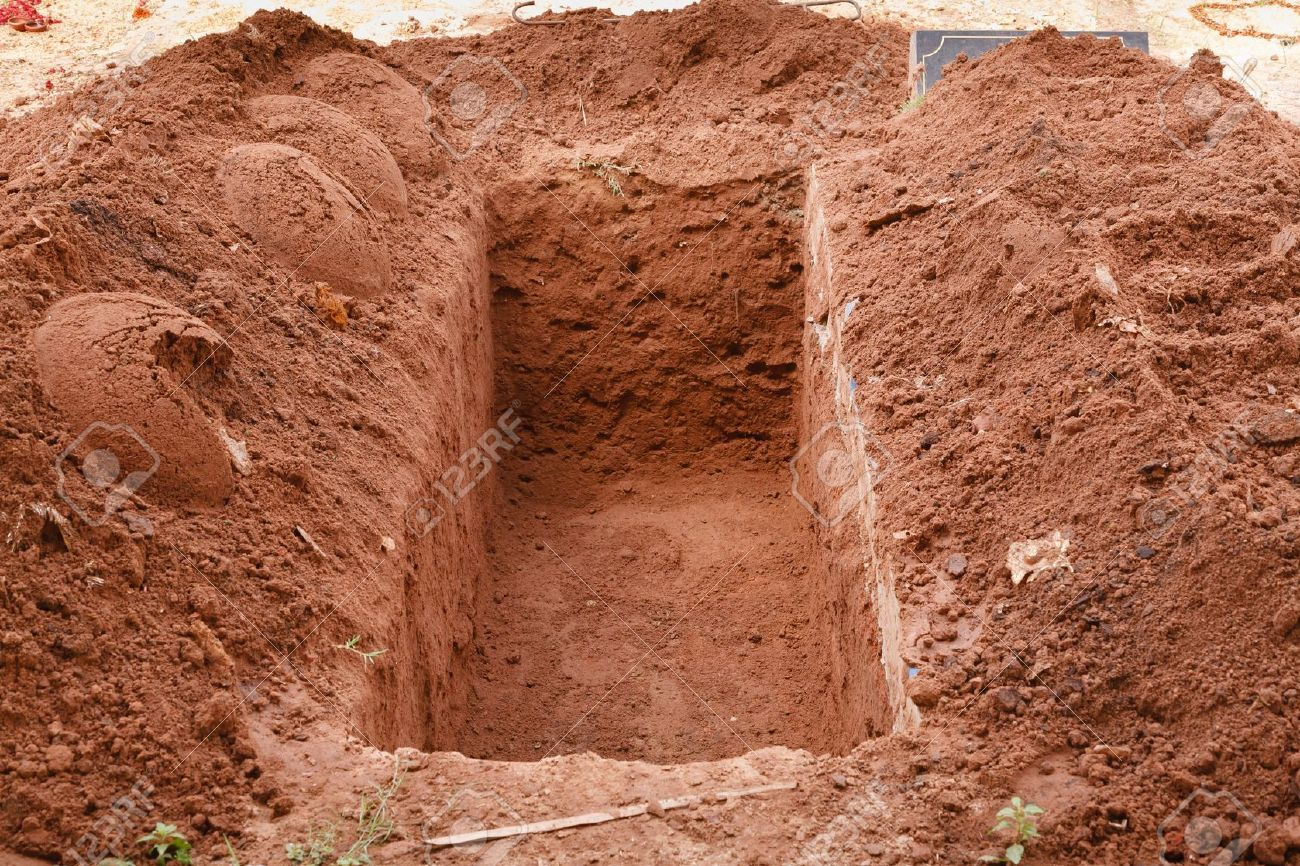 Image result for newly dug grave