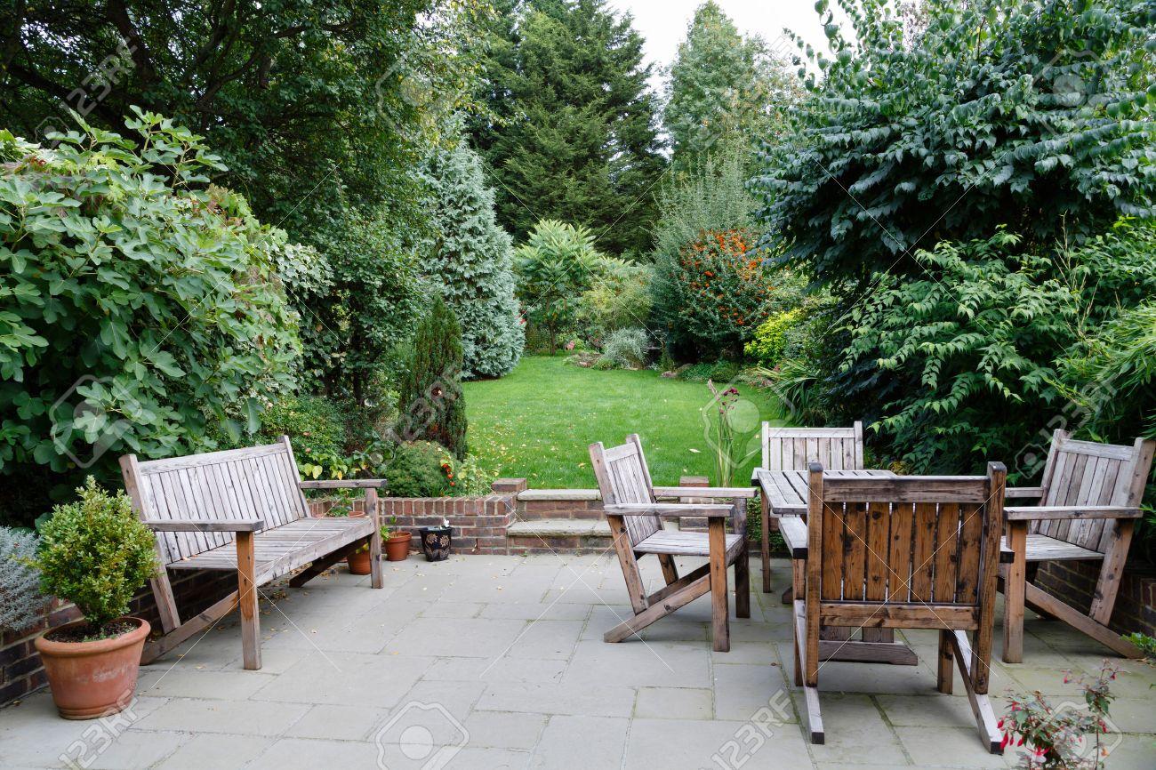 Backyard Patio: Backyard, Patio And Garden Furniture In An English Home