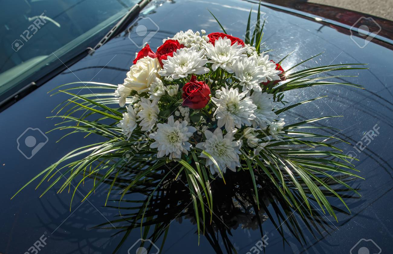 Wedding Car Decor Flowers Bouquet Wedding Arrangement Stock Photo Picture And Royalty Free Image Image 66702629