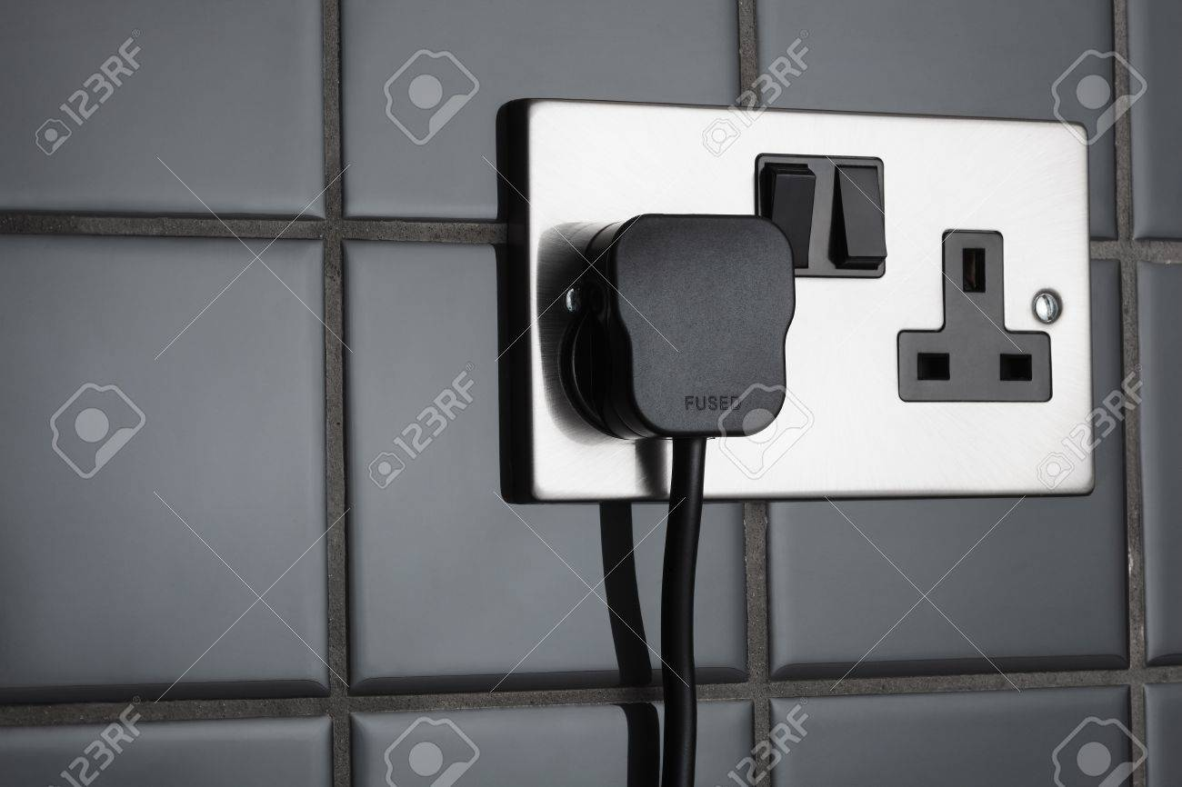 Double plug socket in contemporary kitchen Stock Photo - 14461615