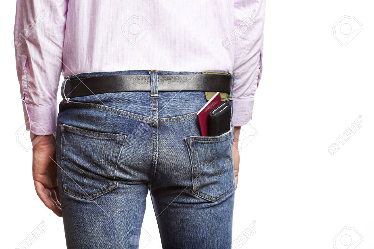 Man is about to potentially be pickpocketed for his wallet Stock Photo - 14597524