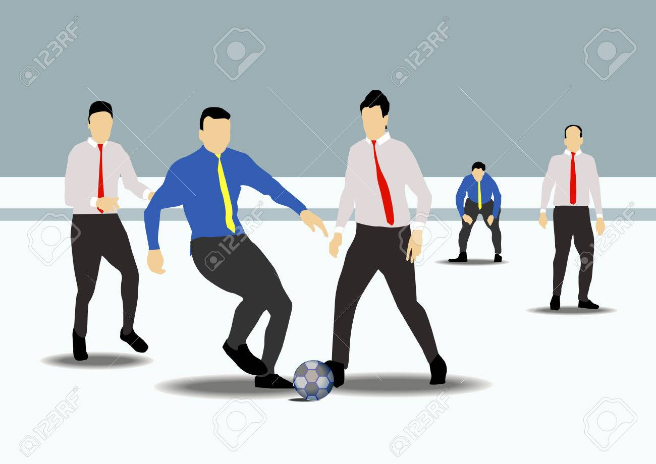 Office Staff Playing Football Royalty Free Cliparts, Vectors, And Stock  Illustration. Image 30524154.