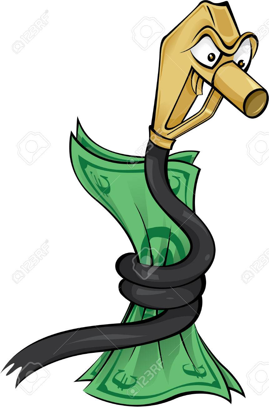 Snake Oil Euro Currency Cartoon Illustration Of The Fuel Crises