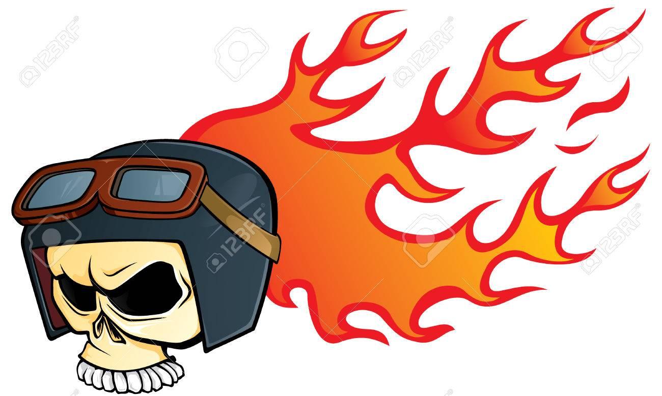Helmet skull Stock Vector - 4943302