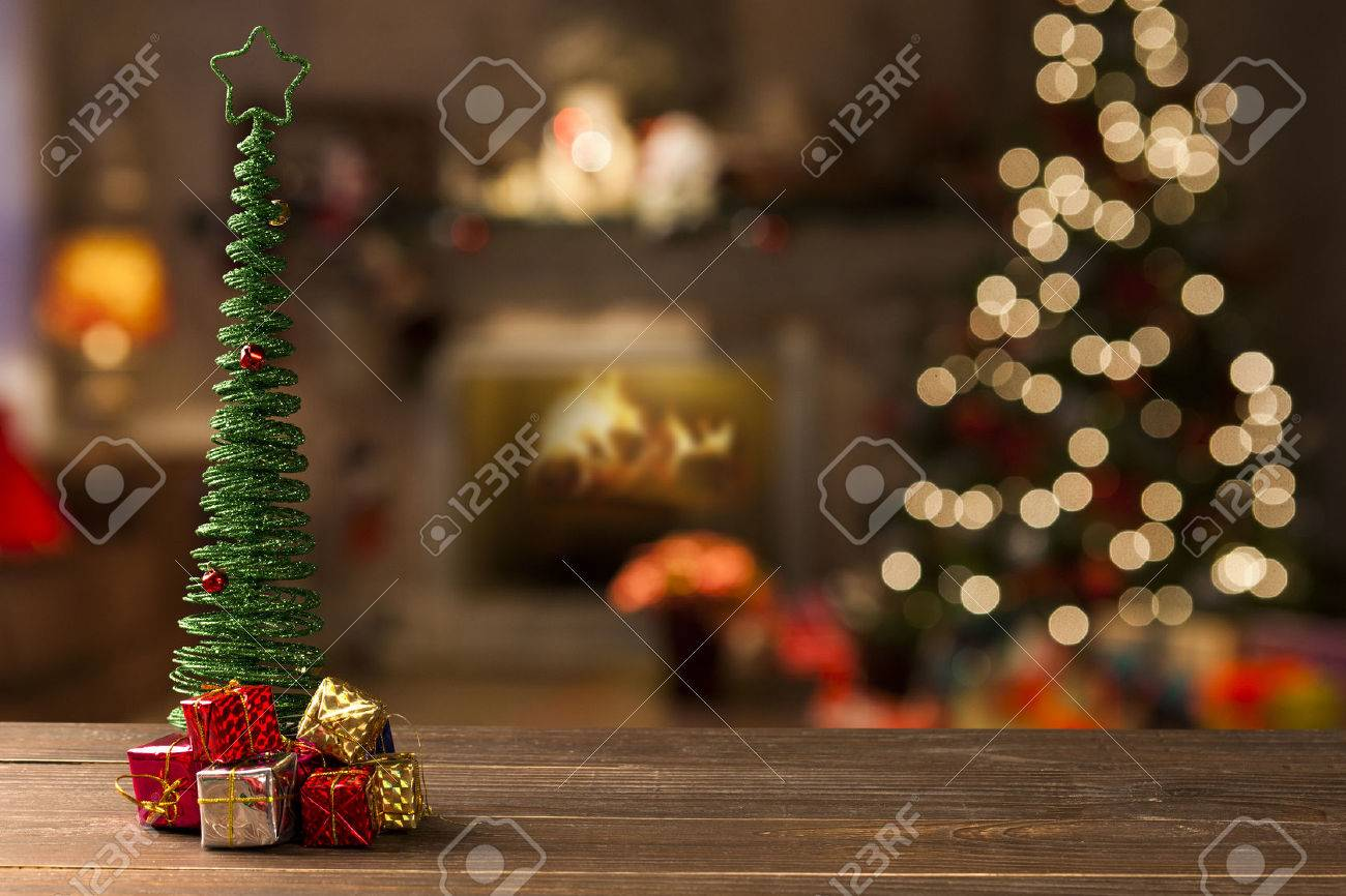 christmas decoration background. christmas blurry stock photo