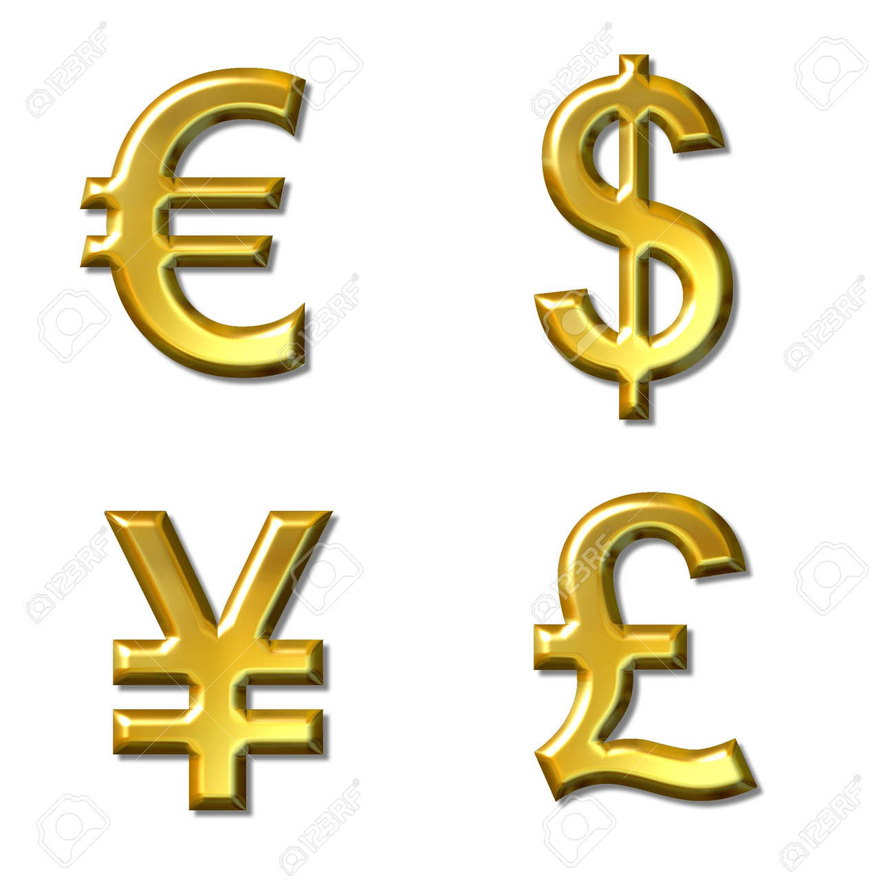 Euro dollar yen pound symbols with gold bevel 4 in 1 stock euro dollar yen pound symbols with gold bevel 4 in 1 stock biocorpaavc Image collections