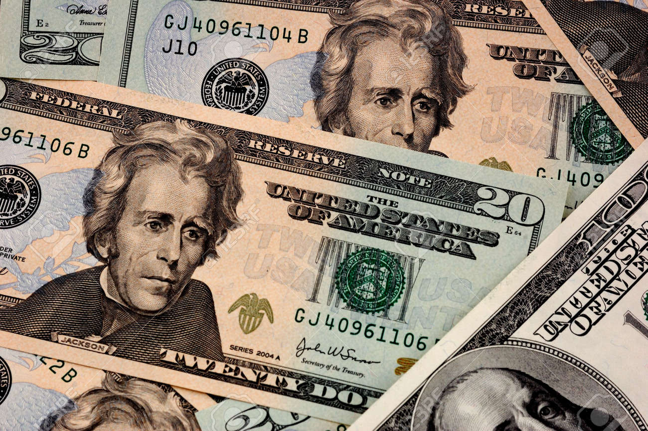 USA dollar background - close-up view Stock Photo - 906970