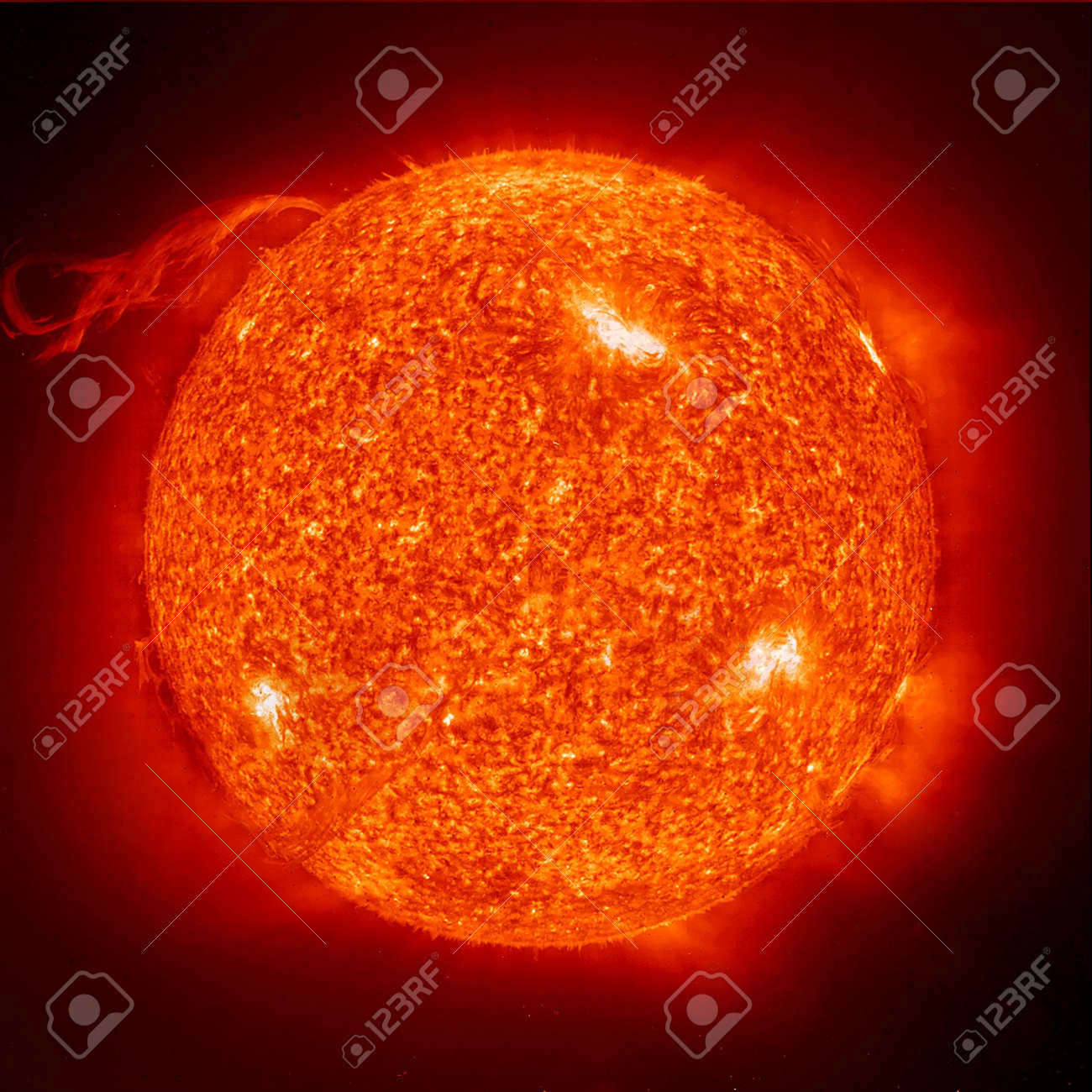 The sun on a black background Stock Photo - 2547976