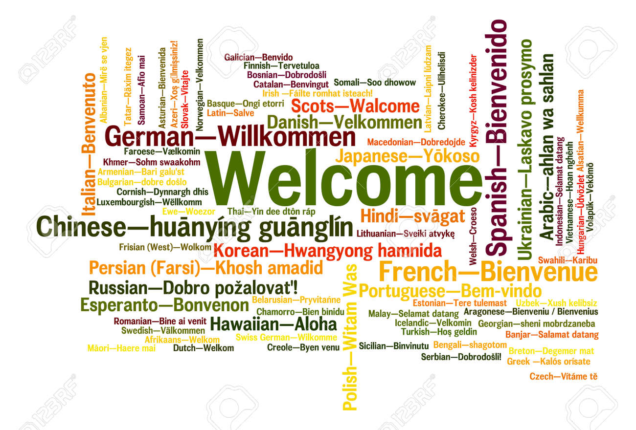 Welcome Phrase In 78 Different Languages Words Cloud Concept Stock