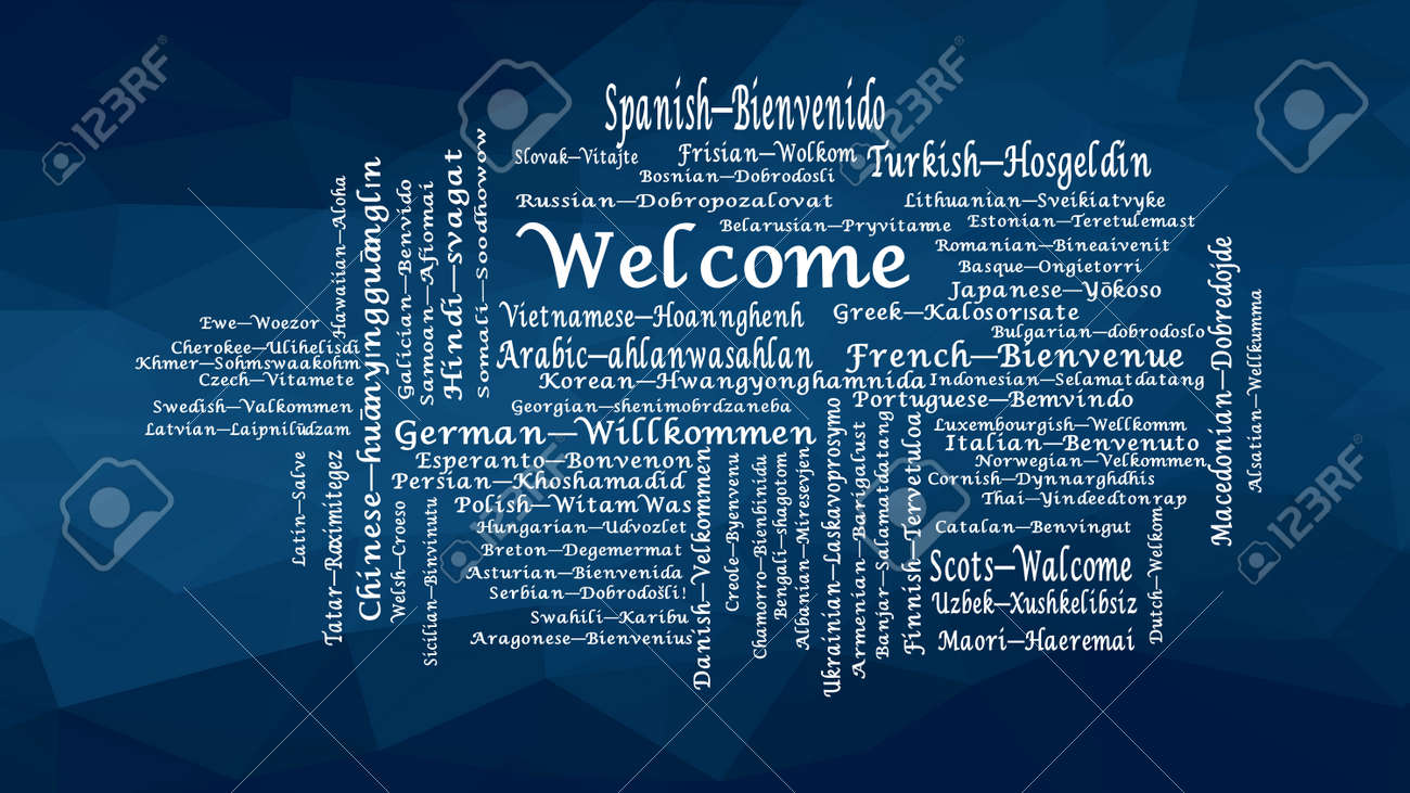 Many Ways To Say Welcome In Different Languages Word Cloud Conceptual Royalty Free Cliparts Vectors And Stock Illustration Image 119437648