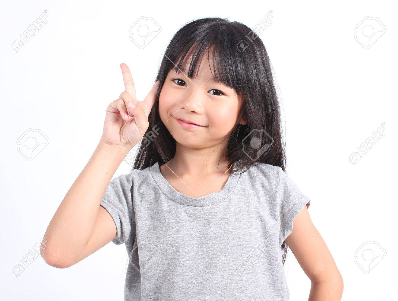 Portrait of young cute girl - 43865431