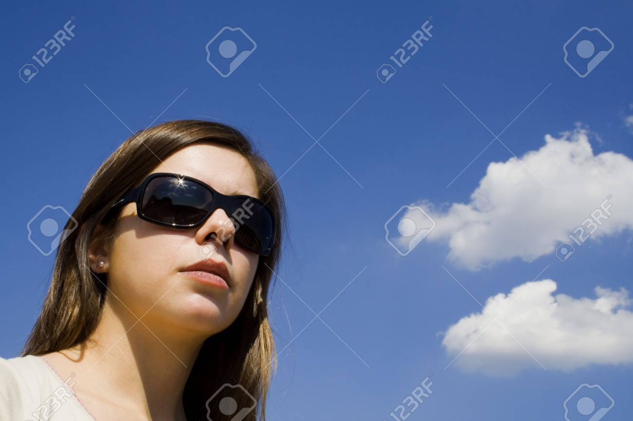 cool and clouds in sunglasses Stock Photo - 3966427