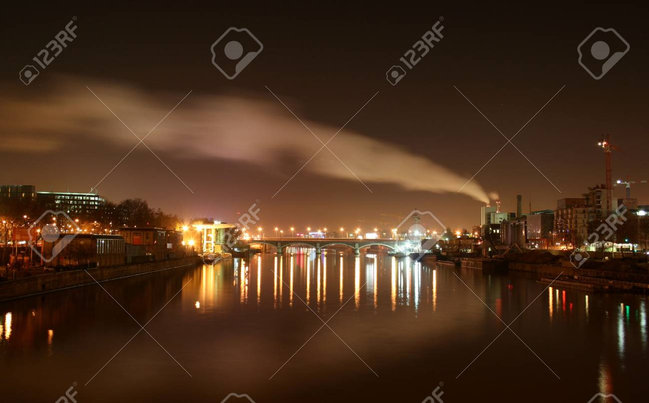 Paris - city line with factory chimney smoke in sky Stock Photo - 3929646