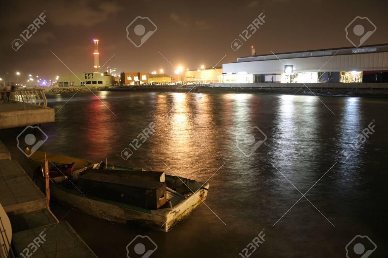 jetty by night tel viv israel Stock Photo - 3998022