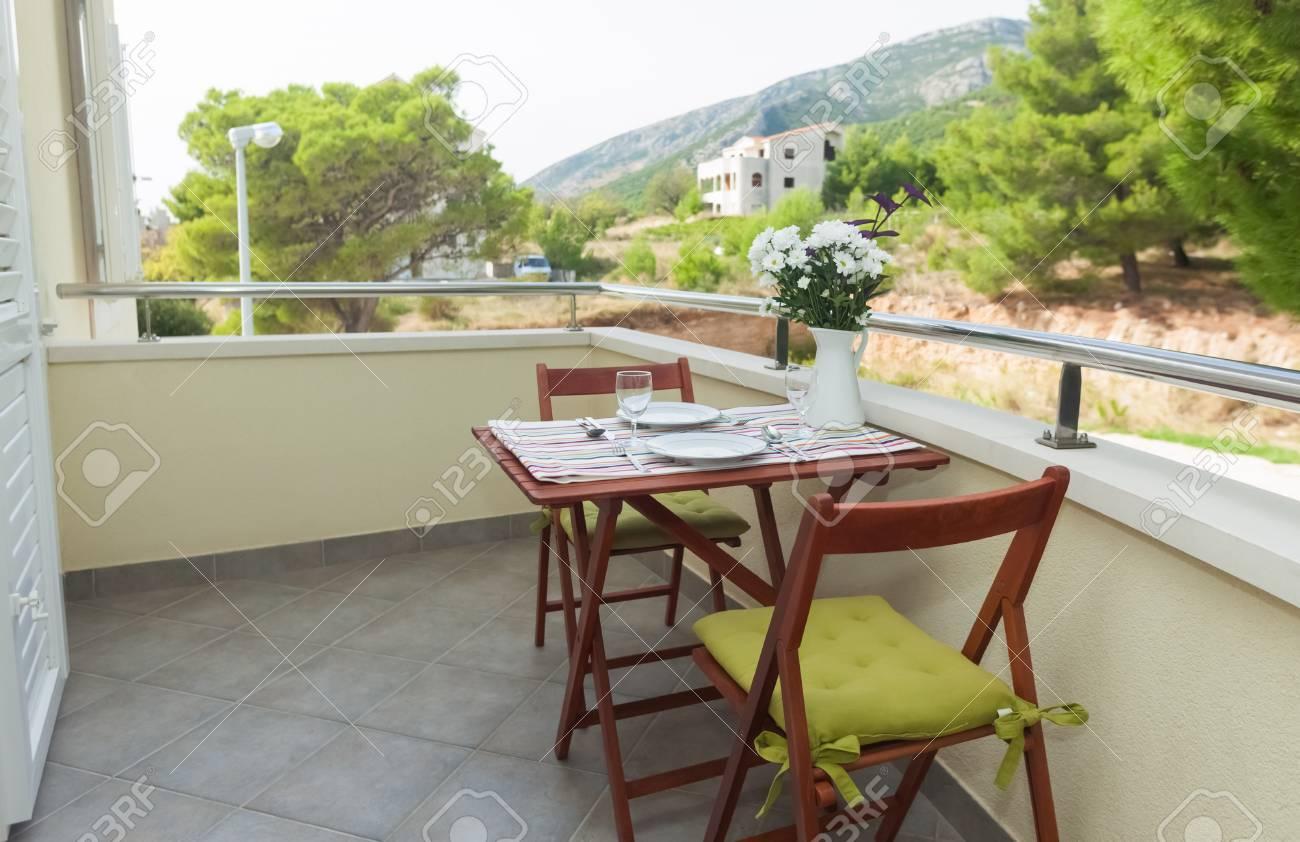 Terrace exterior of apartment in mediterranean environment Stock Photo - 19118902