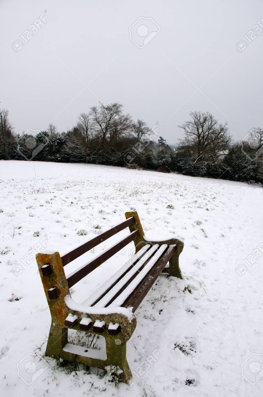 Seat in the snow Stock Photo - 4708348