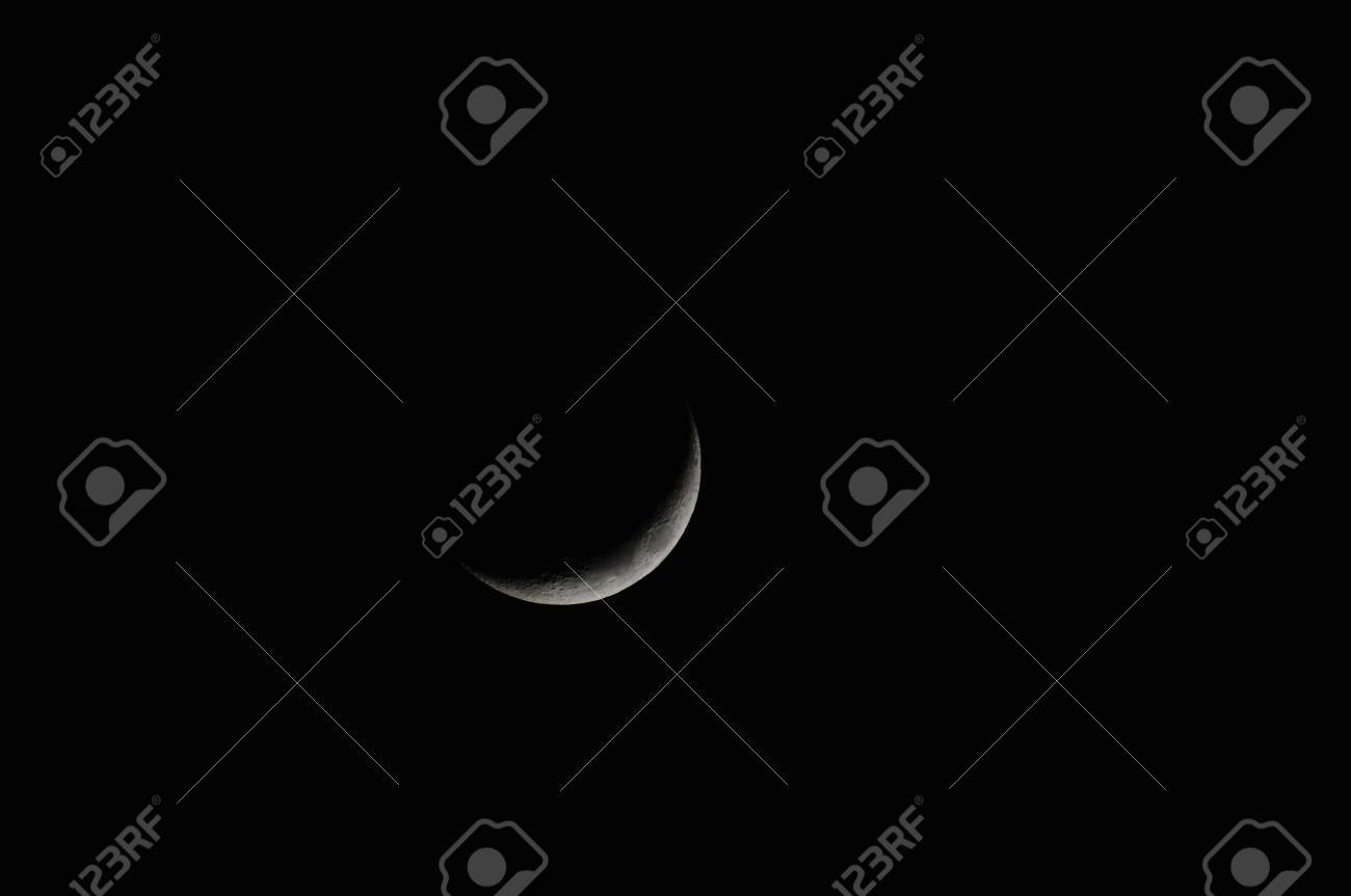 The Moon, Waxing Crescent Stock Photo - 13031812