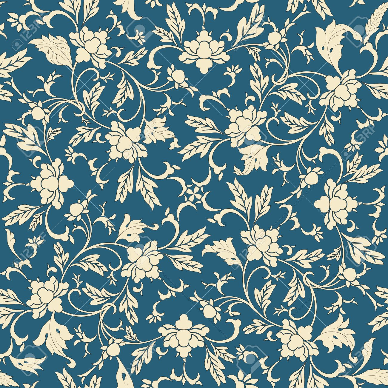 Fototapete Nahtlose Muster Orientalisch Pixers