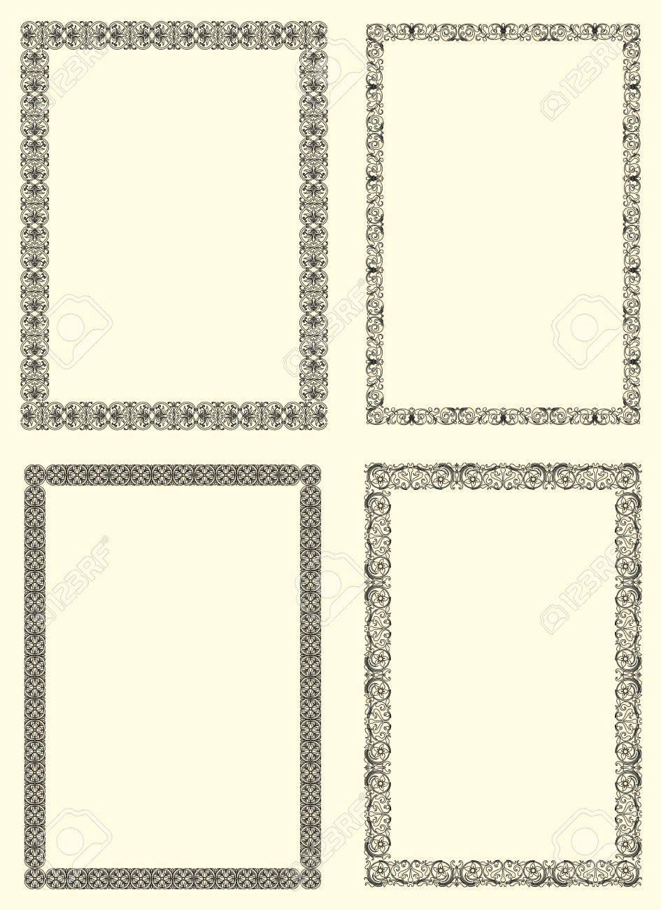 Conjunto De Cuatro Marco De La Vendimia Ornamentales Del Siglo XVII ...
