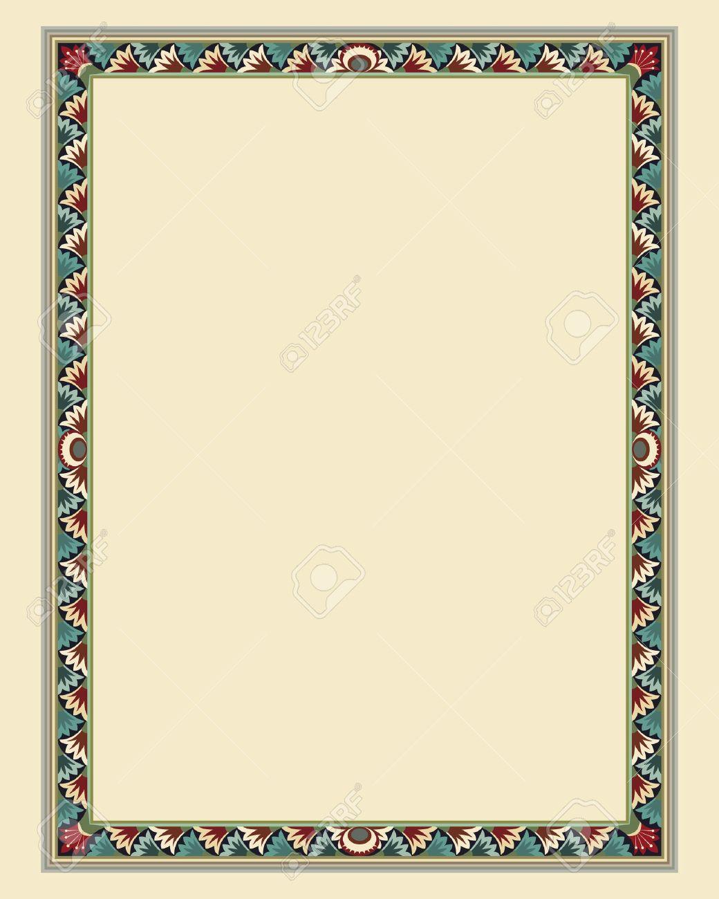 arabesque border frame illustration file Stock Vector - 10364793