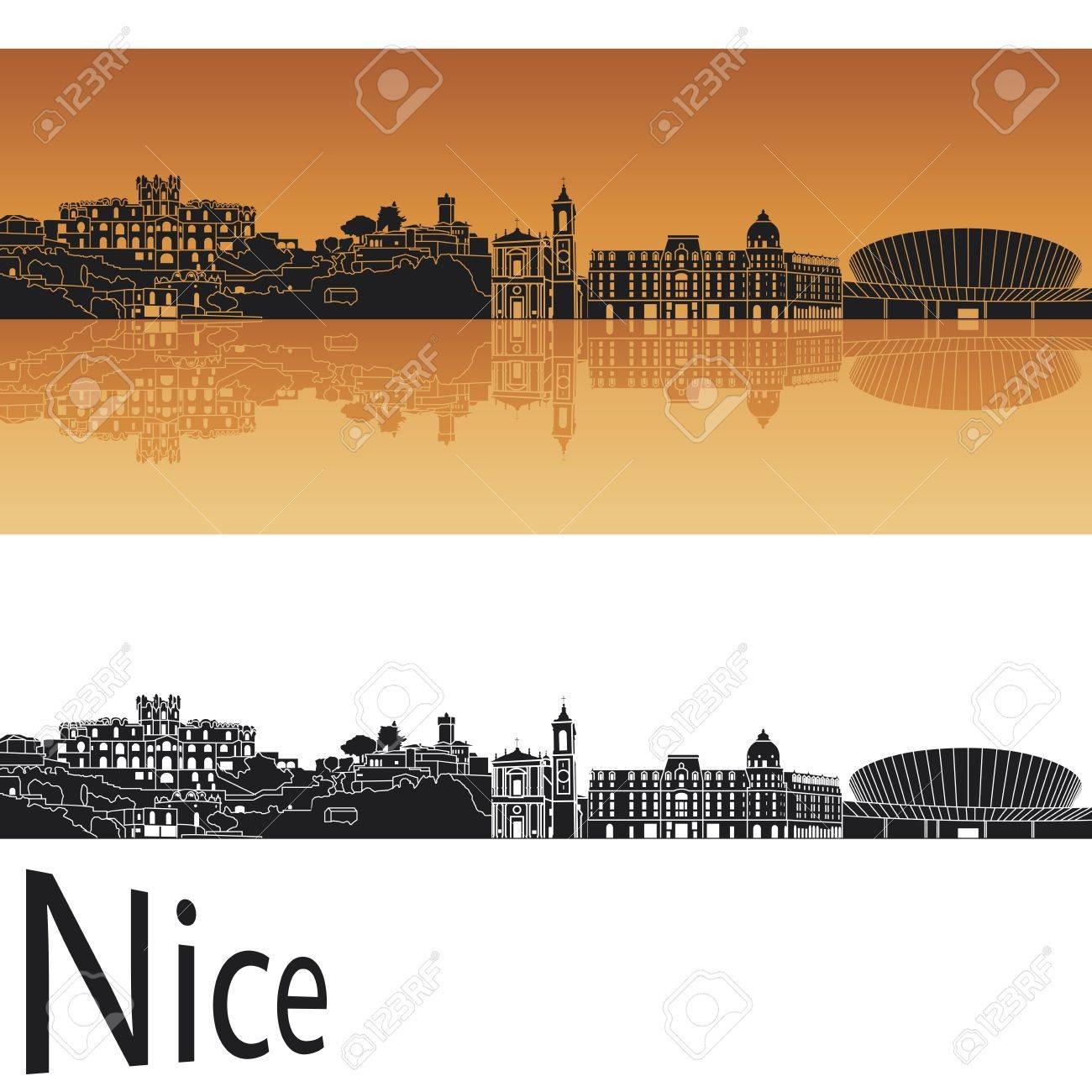 Nice skyline in orange background Stock Vector - 17497996