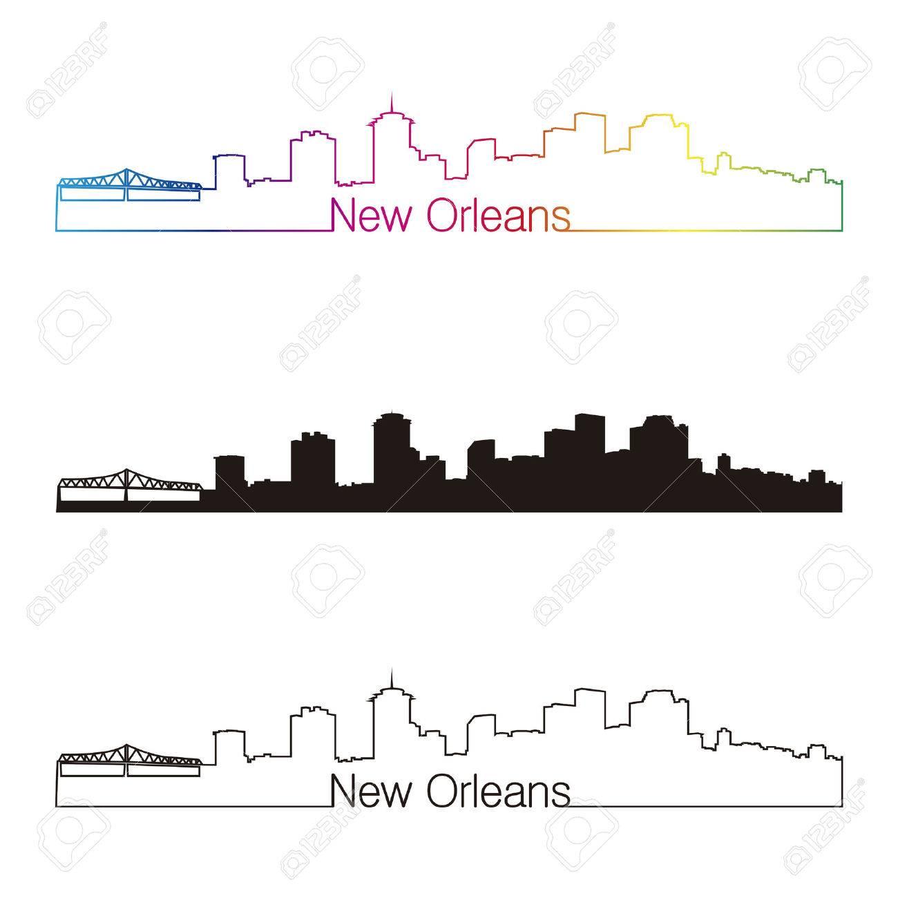 New Orleans City Skyline New Orleans Skyline Linear