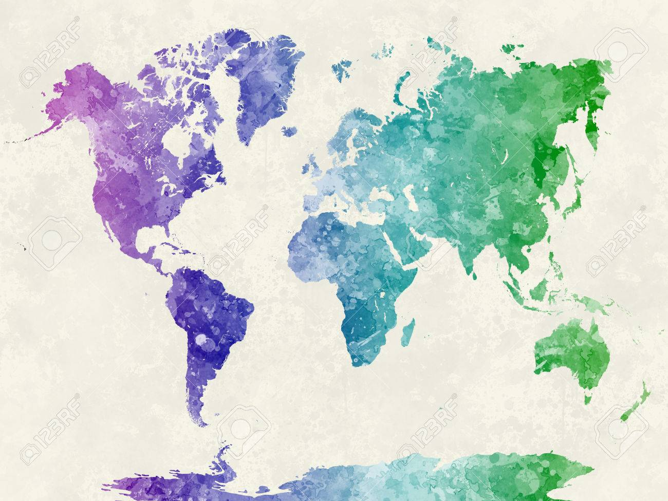 World map in watercolor painting abstract splatters stock photo stock photo world map in watercolor painting abstract splatters publicscrutiny Image collections