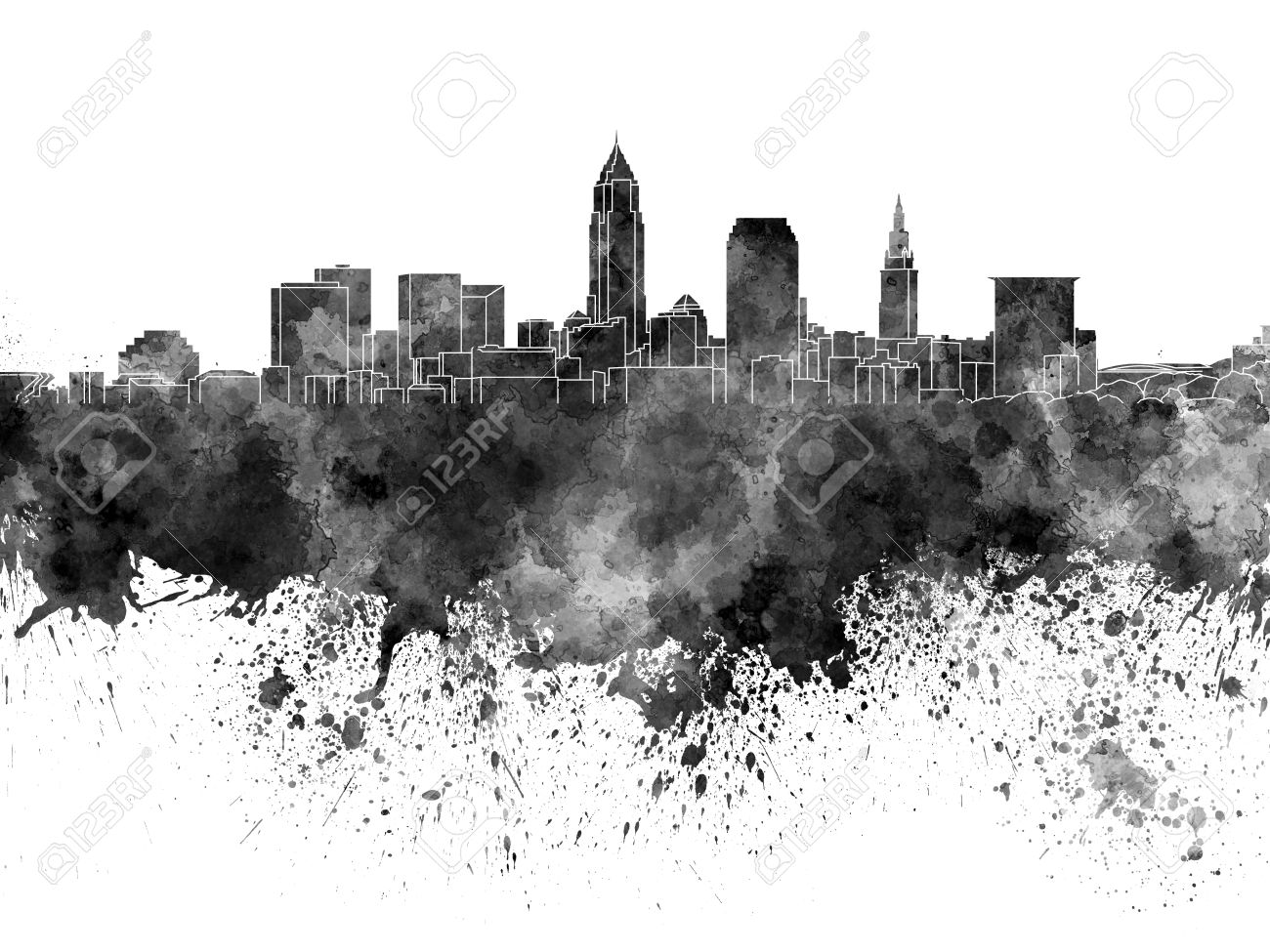 Cleveland black and white