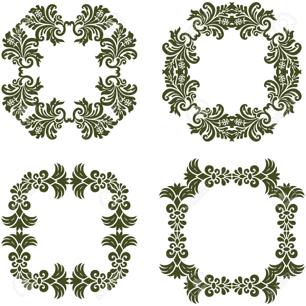 Floral damask frames borders royalty free cliparts vectors and floral damask frames borders stock vector 27552472 jeuxipadfo Gallery