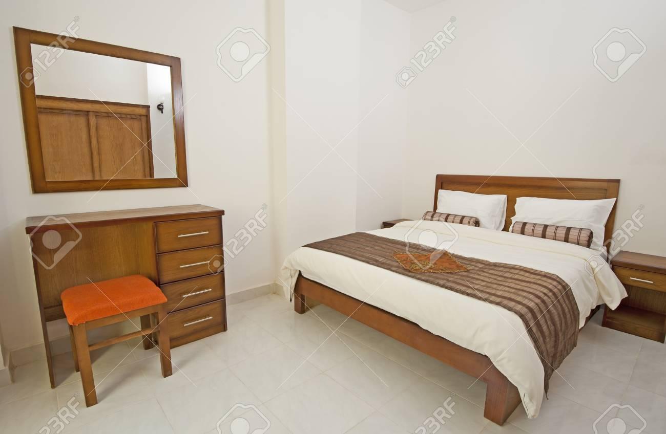 Show Home Bedroom Luxury Show Home Bedroom Showing Interior Design Stock Photo