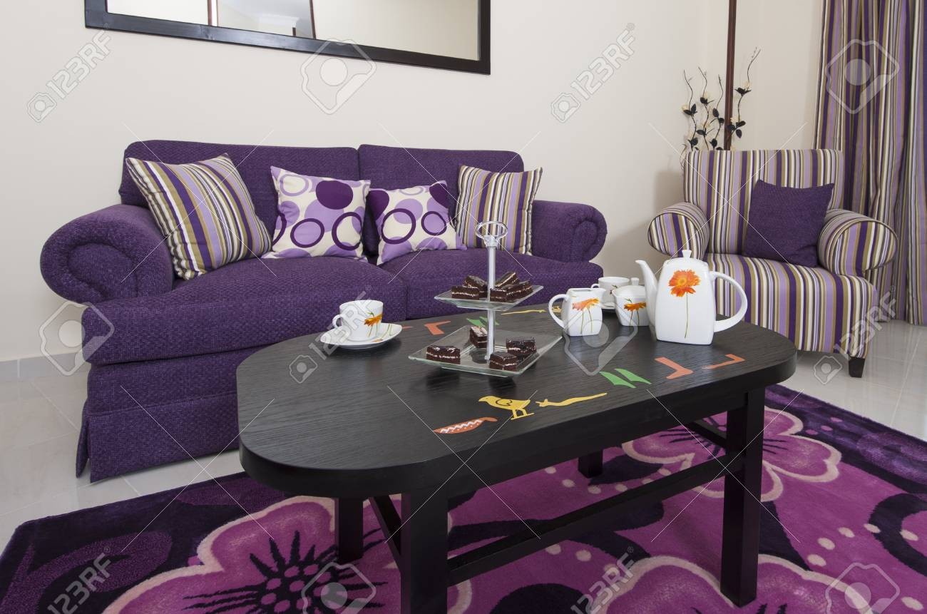Purple Decorations For Living Room Purple And Brown Living Room Ideas House Decor Purple Living Room