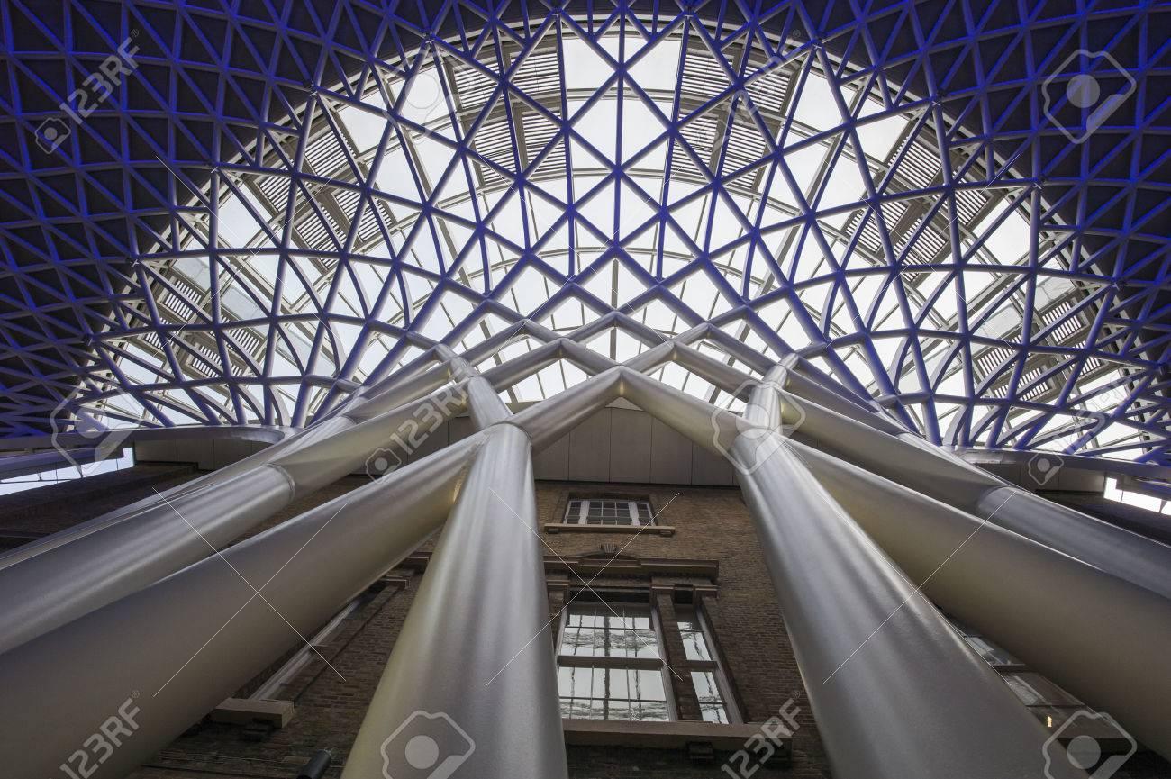 Modern Architecture Detail closeup detail of modern architecture showing large interior