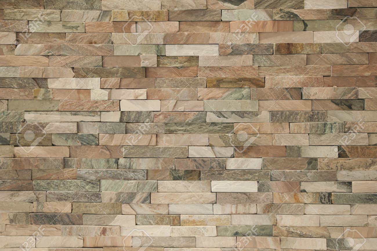 fake stone brick wall facade inside apartment interior creating