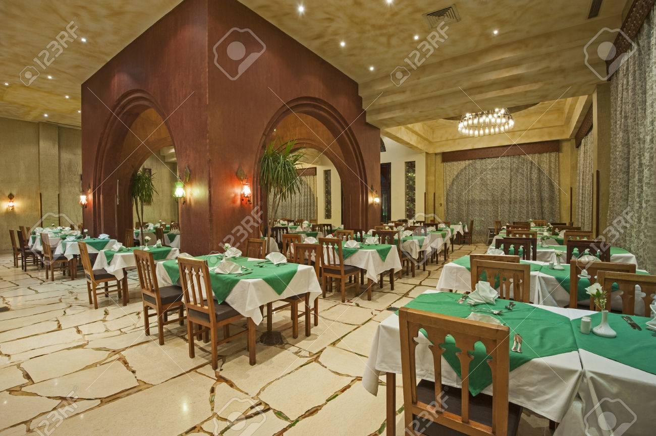Diseño Interior De Un Restaurante De La Zona De Comedor Del Hotel De ...