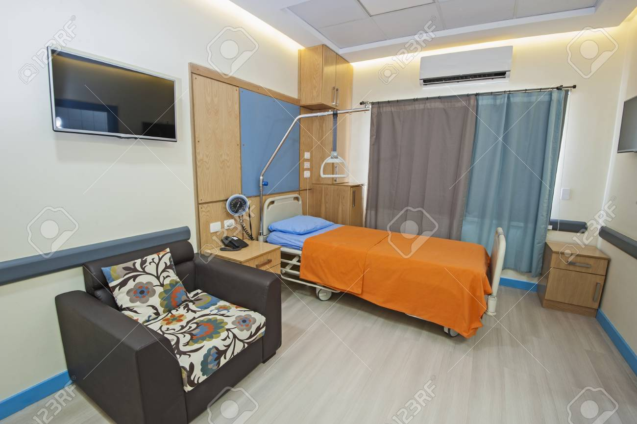 Interior Design Of A Private Ward Room In Hospital Medical Clinic