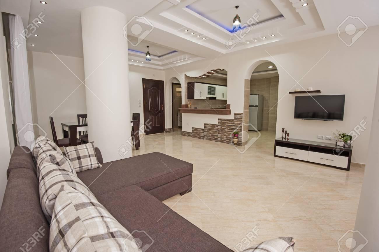 Salle De Sejour Dans Un Salon D Appartement De Luxe A La Maison