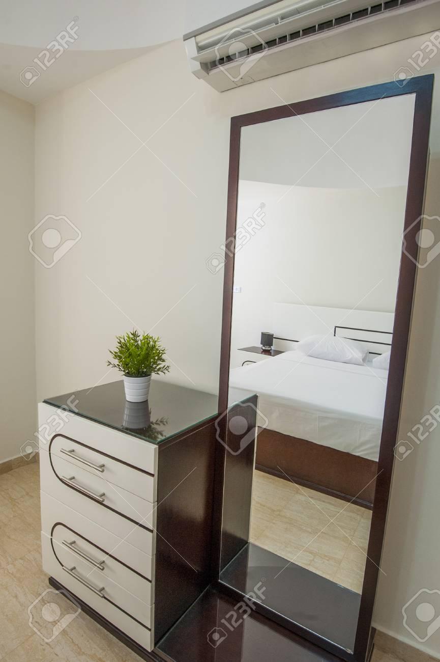 Dressing Table With Mirror Interior Design Decor In Luxury Apartment ...