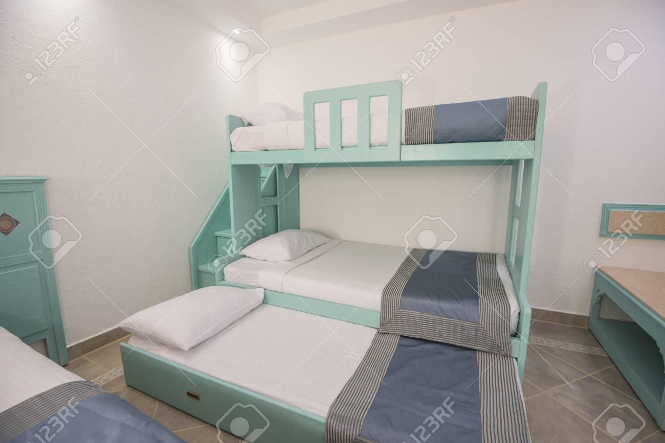 Picture of: Wooden Bunk Beds In Family Room Of A Luxury Hotel Resort With Stock Photo Picture And Royalty Free Image Image 92557181