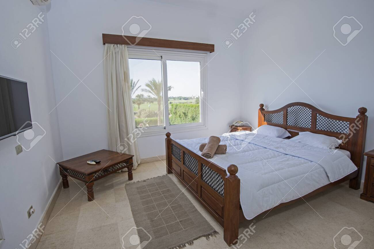 Interior Design Decor Furnishing Of Luxury Show Home Double Bedroom Stock Photo Picture And Royalty Free Image Image 148659339