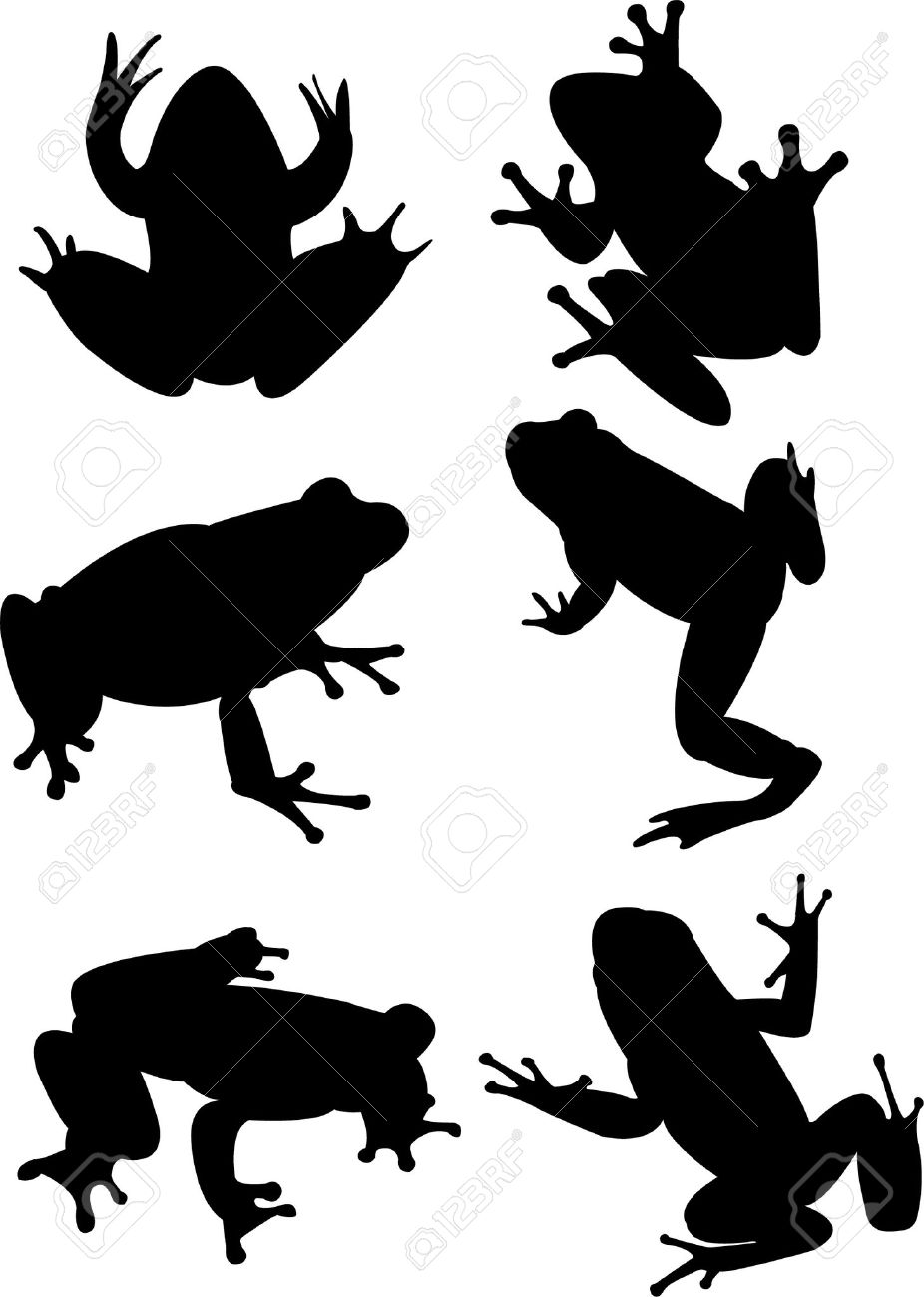 frogs collection silhouette royalty free cliparts vectors and rh 123rf com  frog silhouette vector free