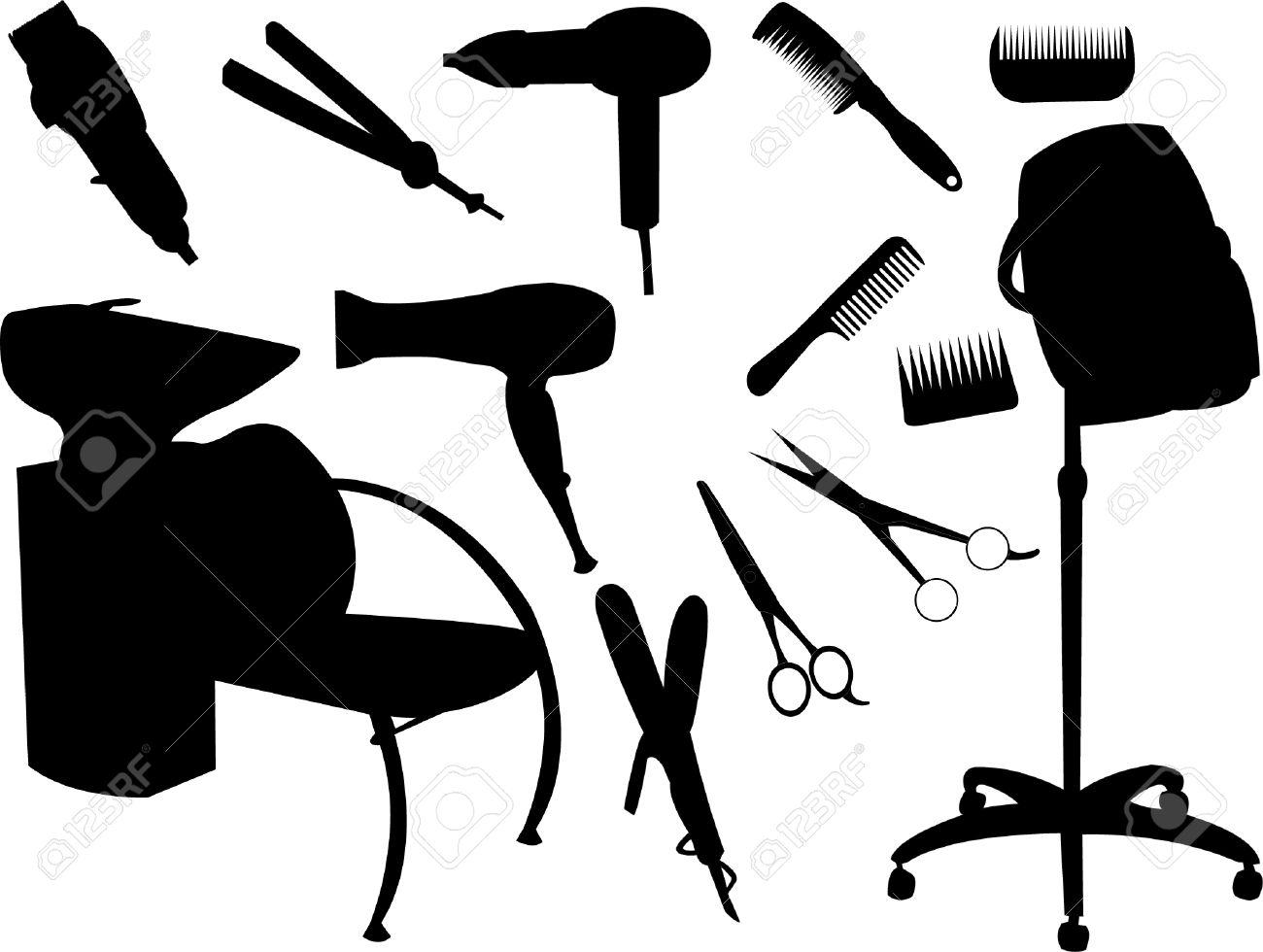 hair equipment silhouette Stock Vector - 8023752