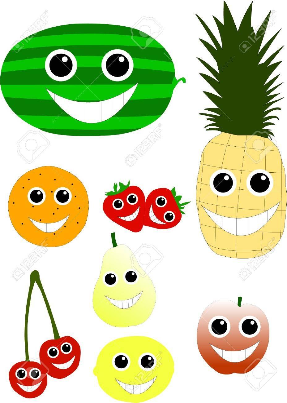cartoon fruits - vector Stock Vector - 8387654