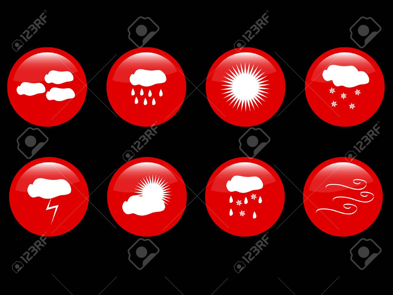 weather icons Stock Vector - 9139239
