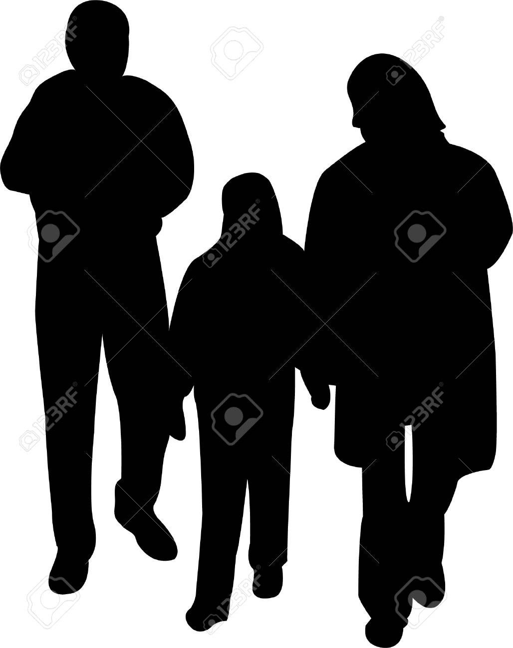illustration of family silhouette vector royalty free cliparts rh 123rf com family silhouettes vector free walking family silhouette vector