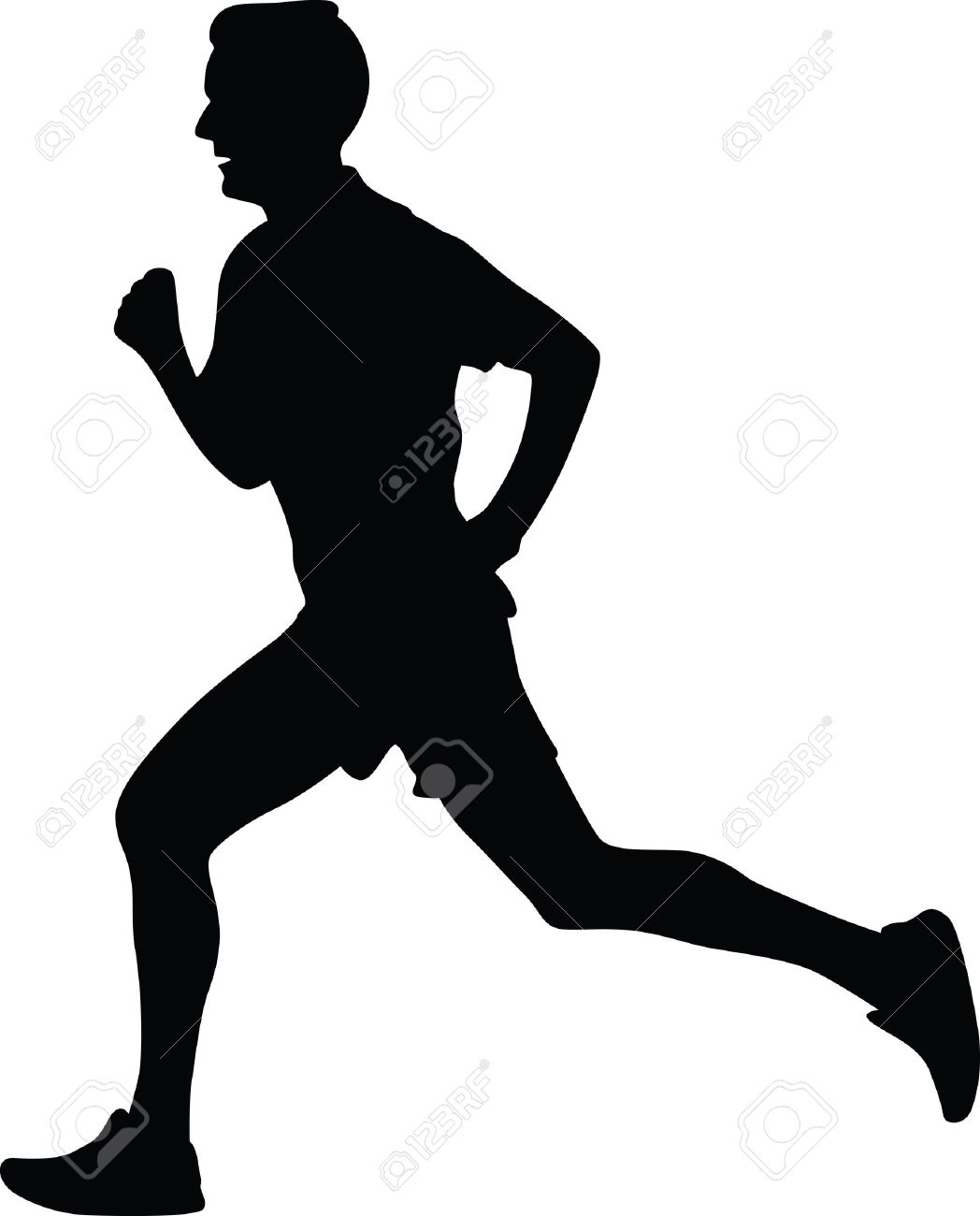 runner silhouette vector royalty free cliparts vectors and stock rh 123rf com runners silhouette vector free download road runner vector silhouette