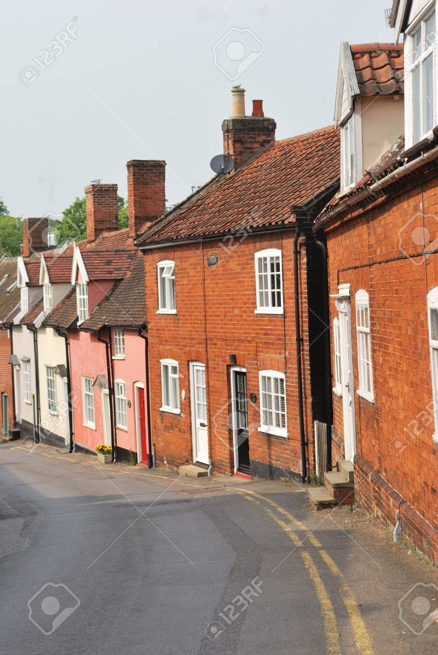 row of traditional town cottages Stock Photo - 9523312
