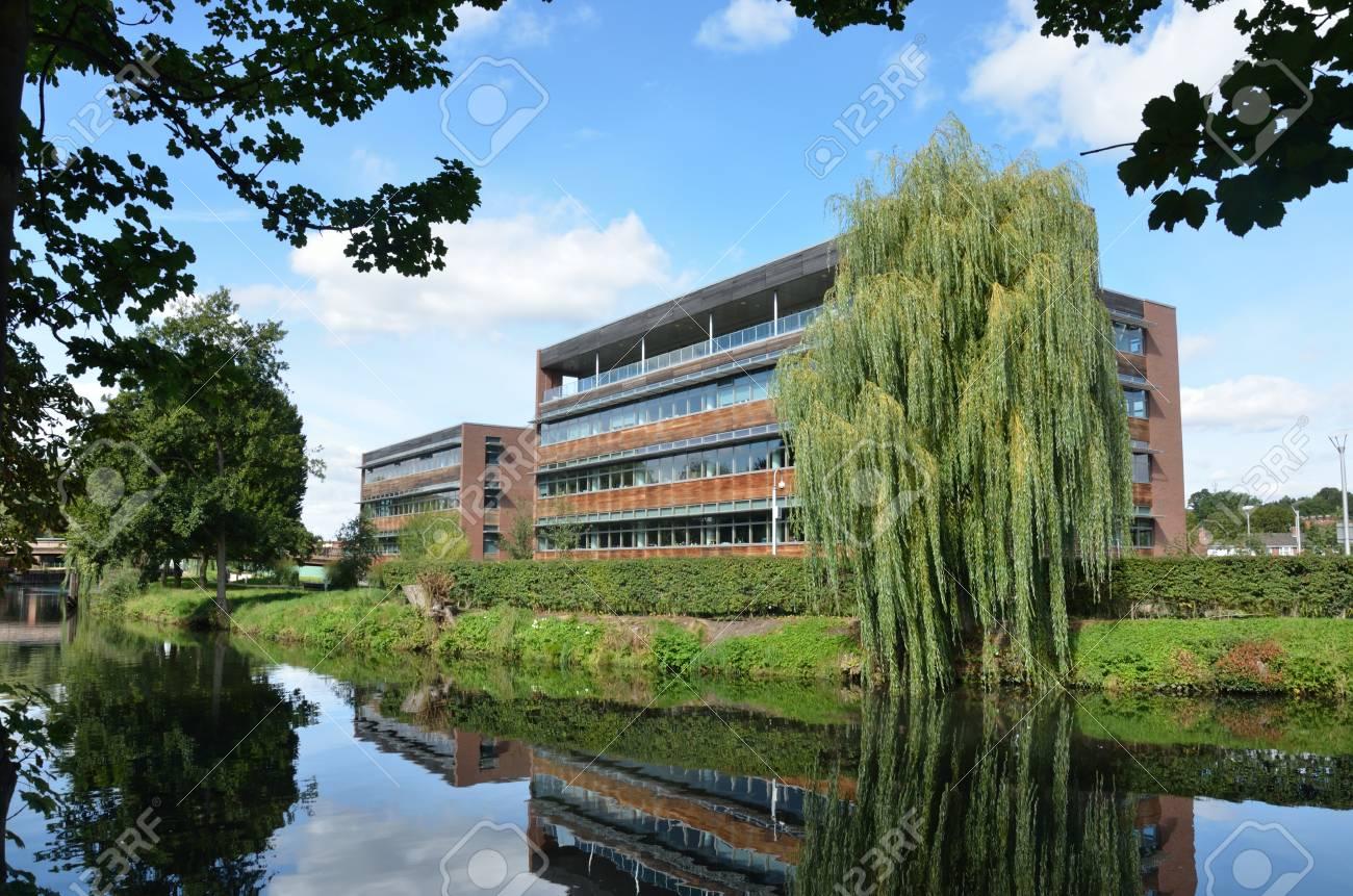 modern riverside office block Stock Photo - 15271145